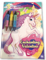 Coloring Book - Unicorn - Includes 3 Crayons - Enchanting Valentine