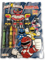 Coloring Book - Power Rangers - Includes Crayons - Shaped C&A Book