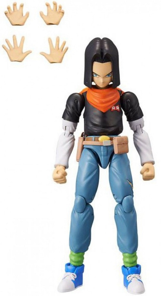 Action Figure Toy - Dragon Ball Stars - Android 17 - Wave 10 - 7 Inch - 1