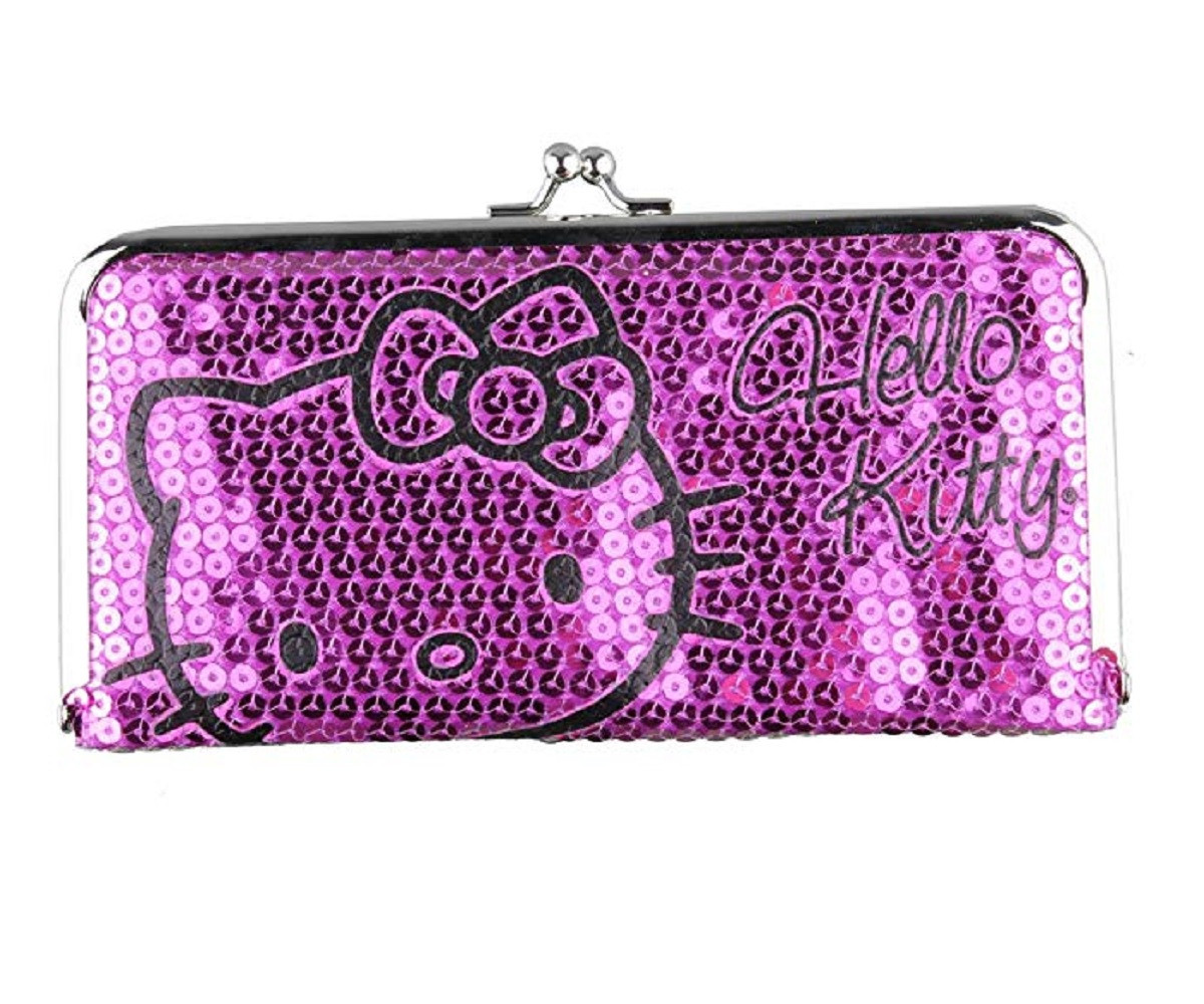 Hello Kitty Sequin Frame Wallet - Pink