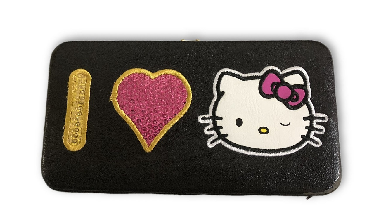 Hello Kitty Sequin Frame Wallet - Black