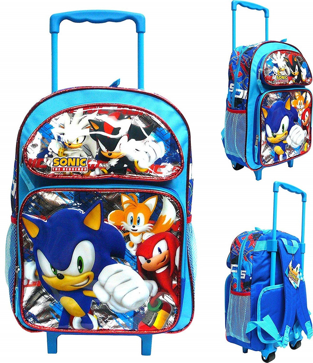 Backpack - Sonic the Hedgehog - Large Rolling 16 Inch - Group - 2019