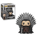 Jon Snow Sitting on the Iron Throne Funko POP Deluxe - Game of Thrones S10