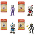 Cuphead Action Figure Bundle of 4pc - 5 Inch
