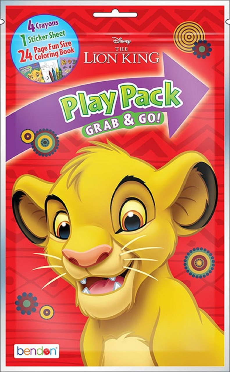 Lion King Grab and Go Play Pack Party Favors - 1ct
