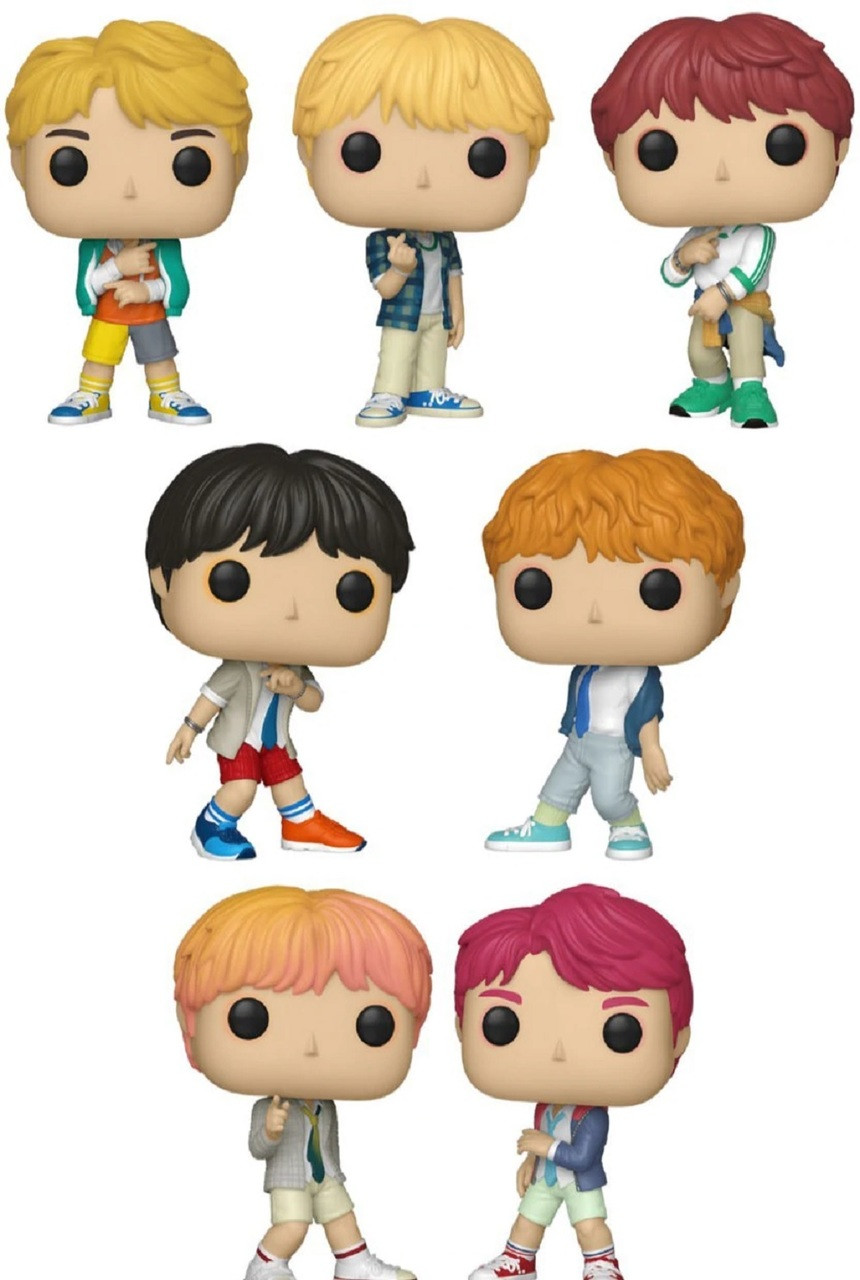 BTS Funko POP - Bundle of 7 - Rocks- Without box