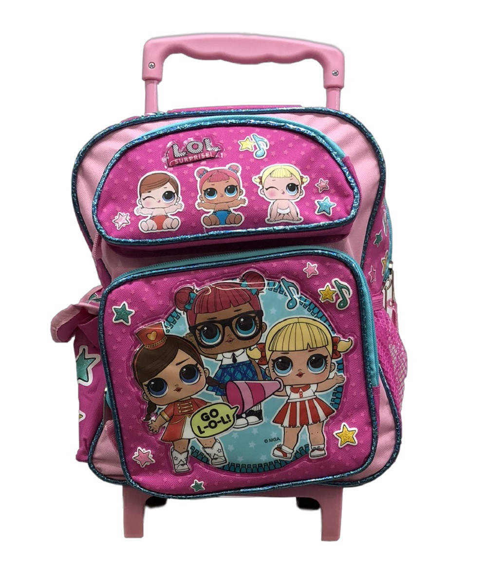 Backpack - LOL Surprise - Small 12 Inch Rolling - Cheerleading