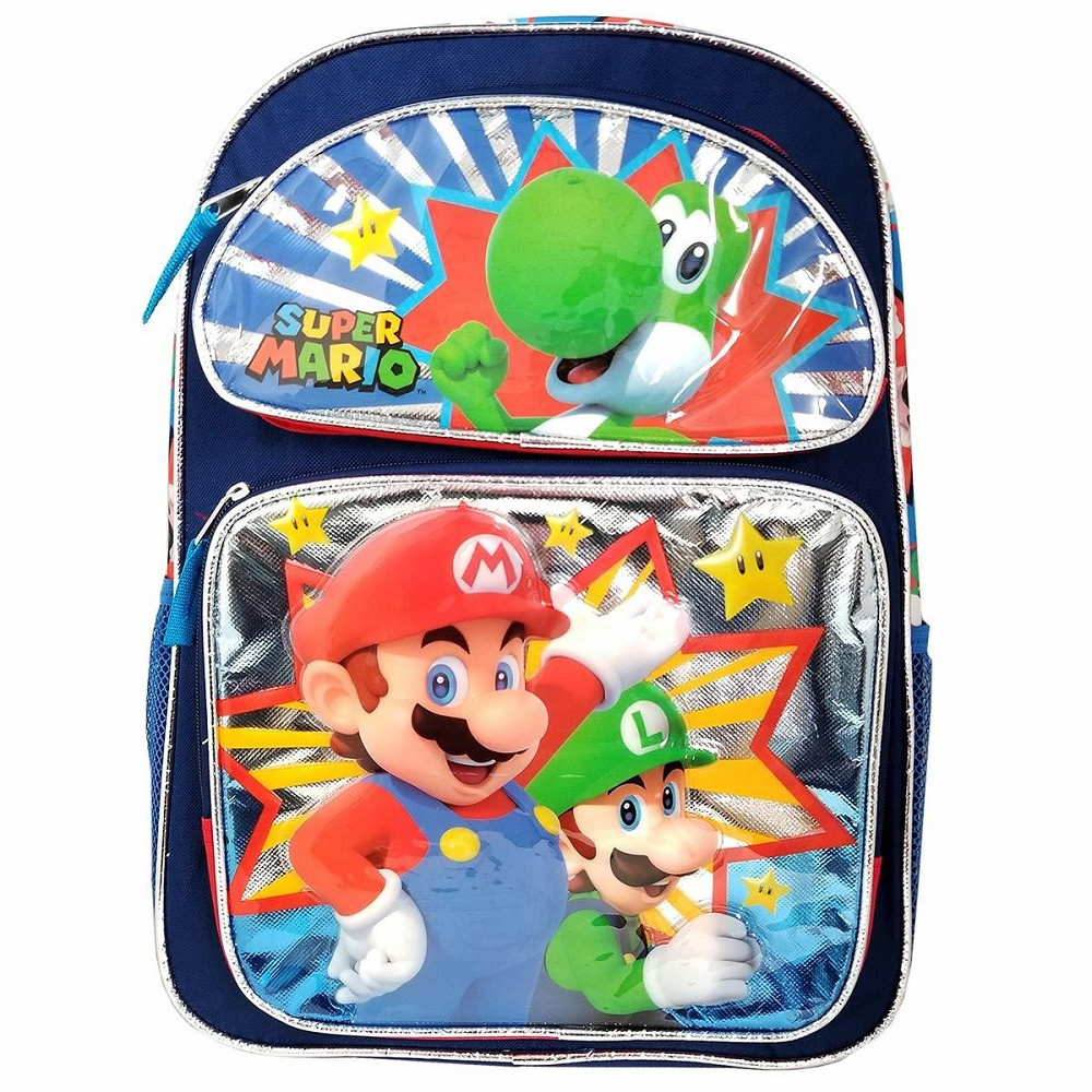 Backpack - Super Mario - Small 12 Inch - Yoshi