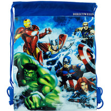 "Drawstring Bag - Avengers Assemble - Blue - 13"" X 11"""