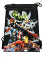 "Drawstring Bag - Avengers Assemble - Black - 13"" X 11"""