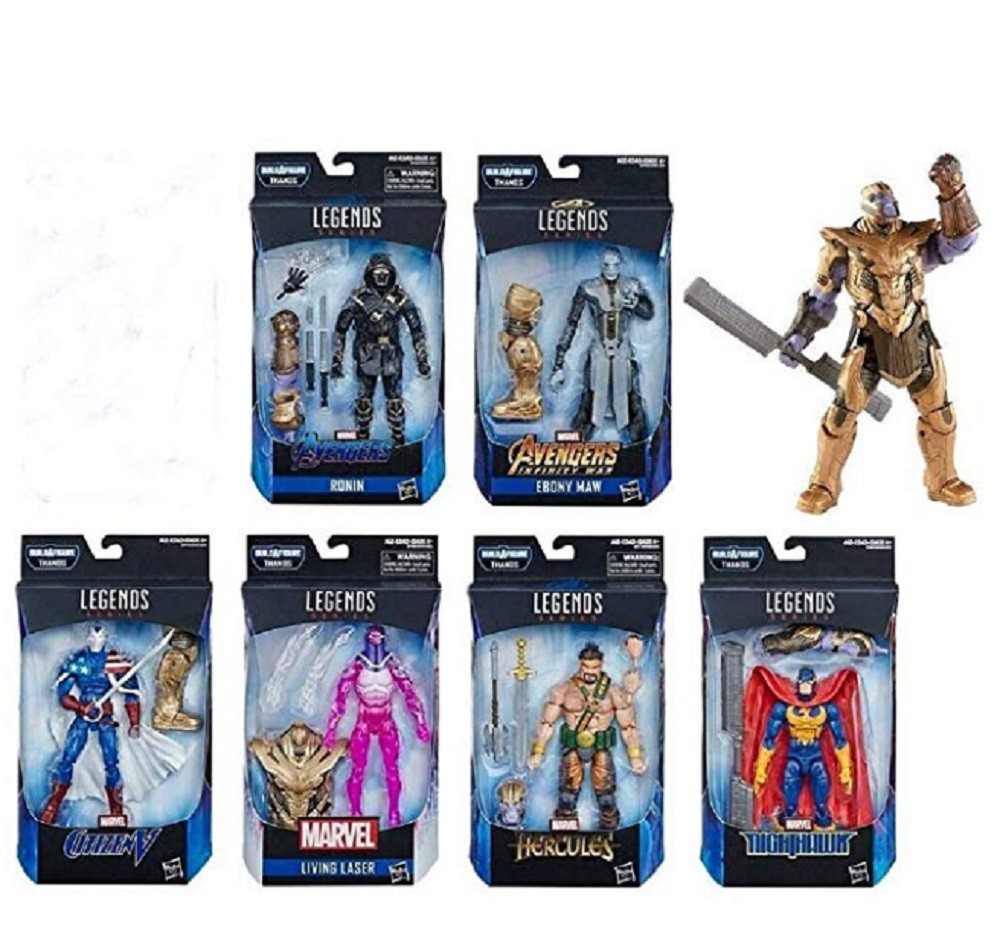 Action Figures - Marvel Legends - Avengers Endgame - Thanos Bundle - 7 Inch - 6 Figs