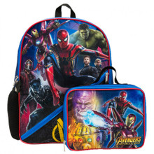 Backpack - Avengers Infinity War - Large 16 Inch - w Lunch Box