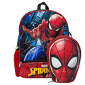 Backpack - Spiderman - Large 16 Inch - w Lunch Box
