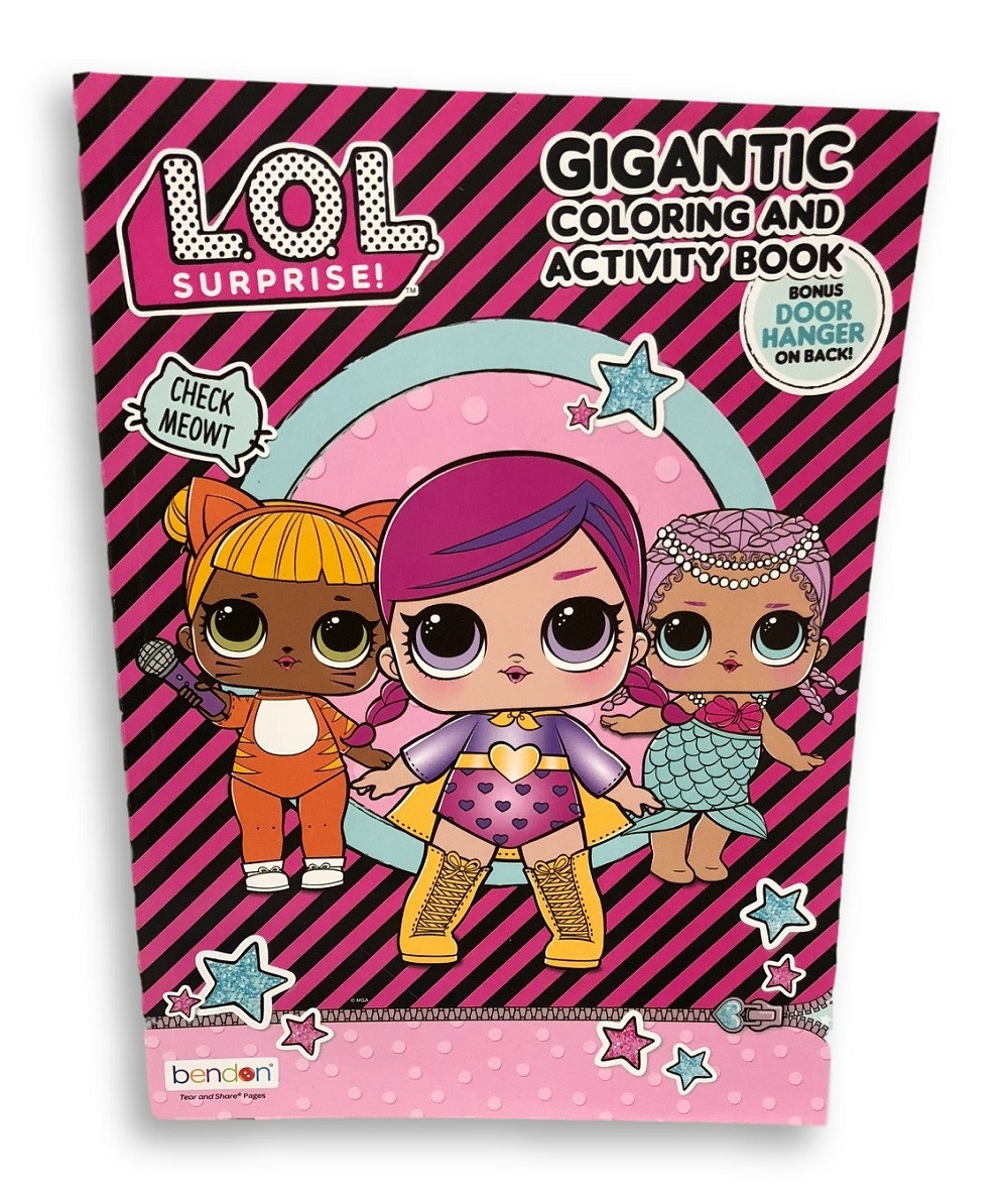 Coloring Book - LOL Surprise - 192p Gigantic Book to Color