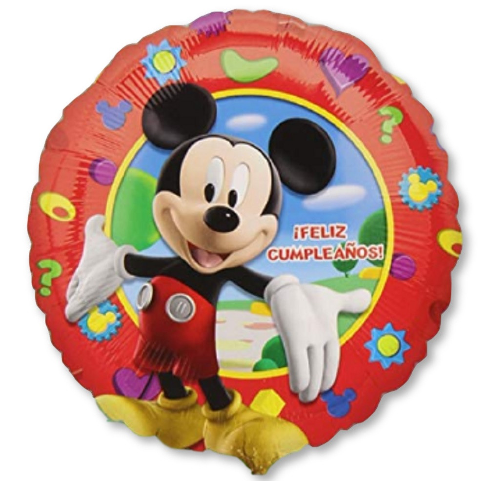 Balloons - Mickey Mouse - Helium - 18 Inch - Red