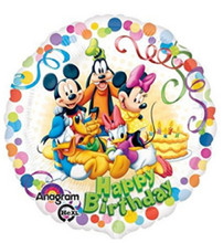 Balloons - Mickey and Friends - Helium - 18 Inch - White