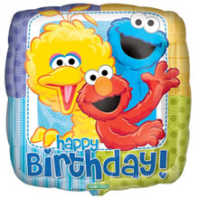 Balloons - Sesame Street - Helium - 18 Inch - HBD - Multi Color