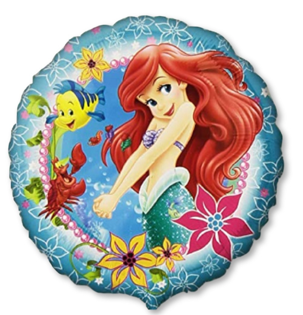 Balloons - Little Mermaid - Helium - 18 Inch - Blue