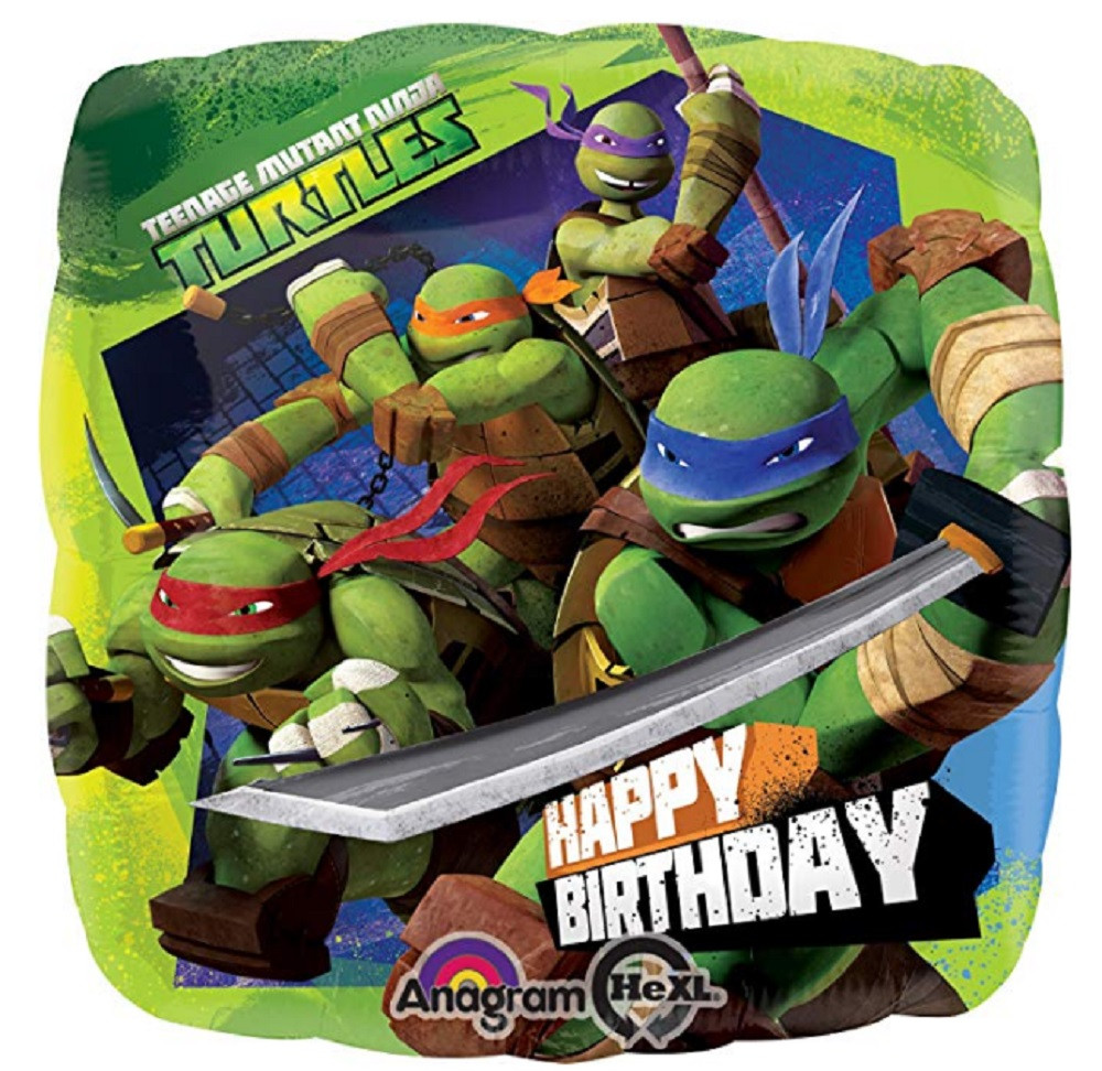 Balloons - Ninja Turtles - Helium - 18 Inch - Dark Green