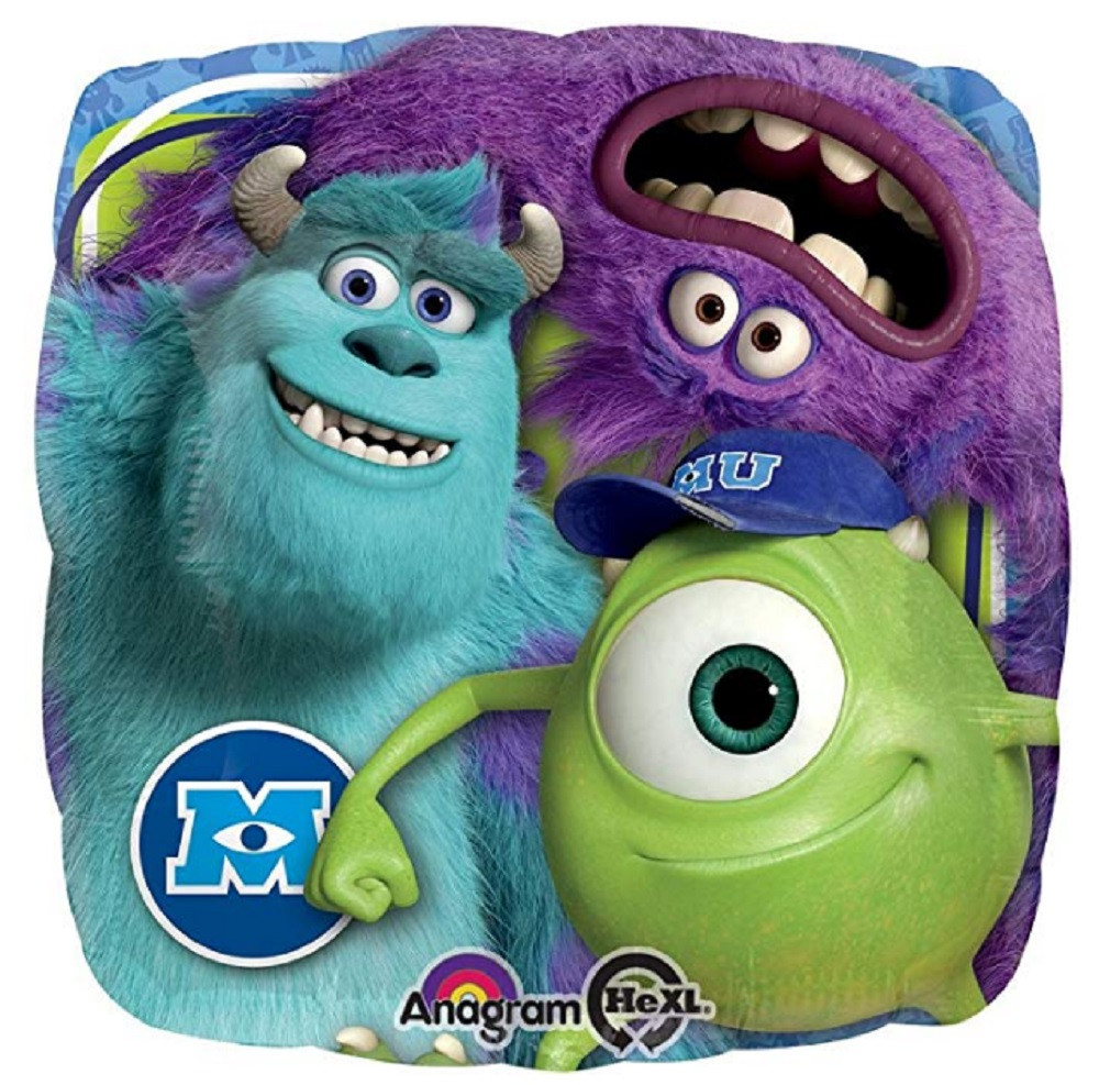 Balloons - Monster University - Helium - 18 Inch - Blue