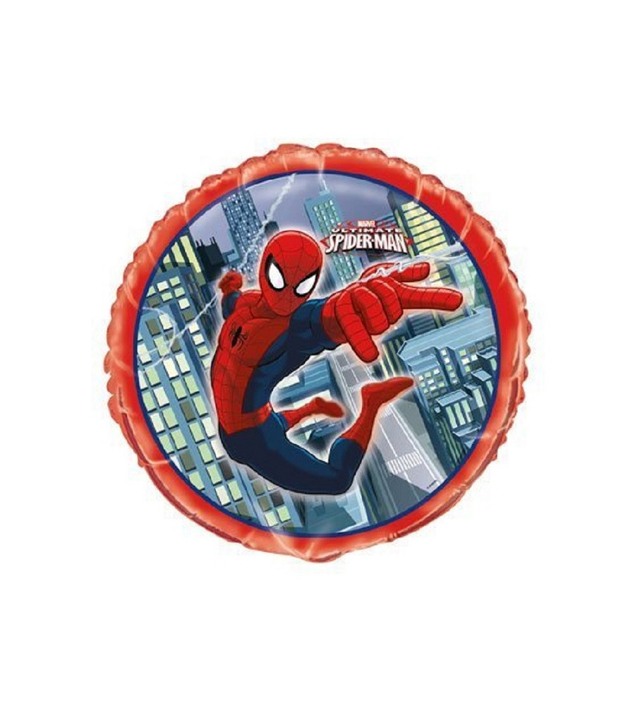 Balloons - Ultimate Spiderman - Helium - 18 Inch - Red