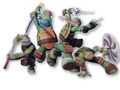 Jointed Cutout - Ninja Turtles - Adorno Movil - Room Decorations