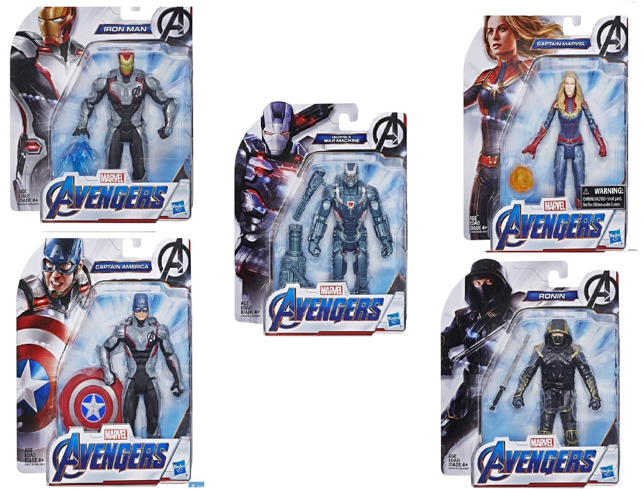 Action Figure - Avengers Endgame - 5 Pack Bundle - 6 Inch