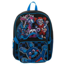Backpack - Five Nights at Freddys - Large 16 Inch - w Lunch Box - Front View