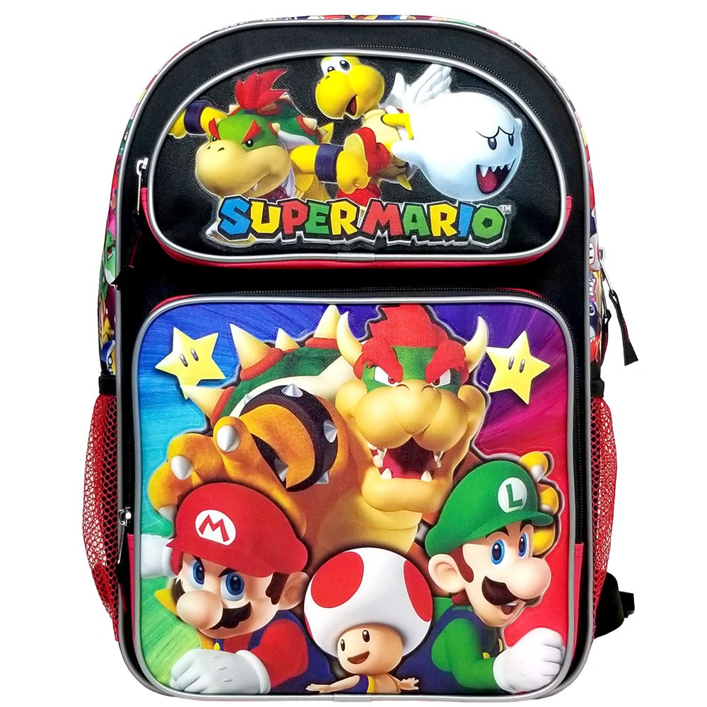 Backpack - Super Mario Brothers - Large 16 Inch - Bowser