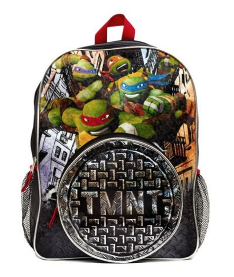 Backpack - Ninja Turtles - Large 16 Inch - w Lunch Box