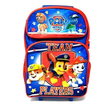 Rolling Backpack - Paw Patrol - Large 16 Inch - Team Work