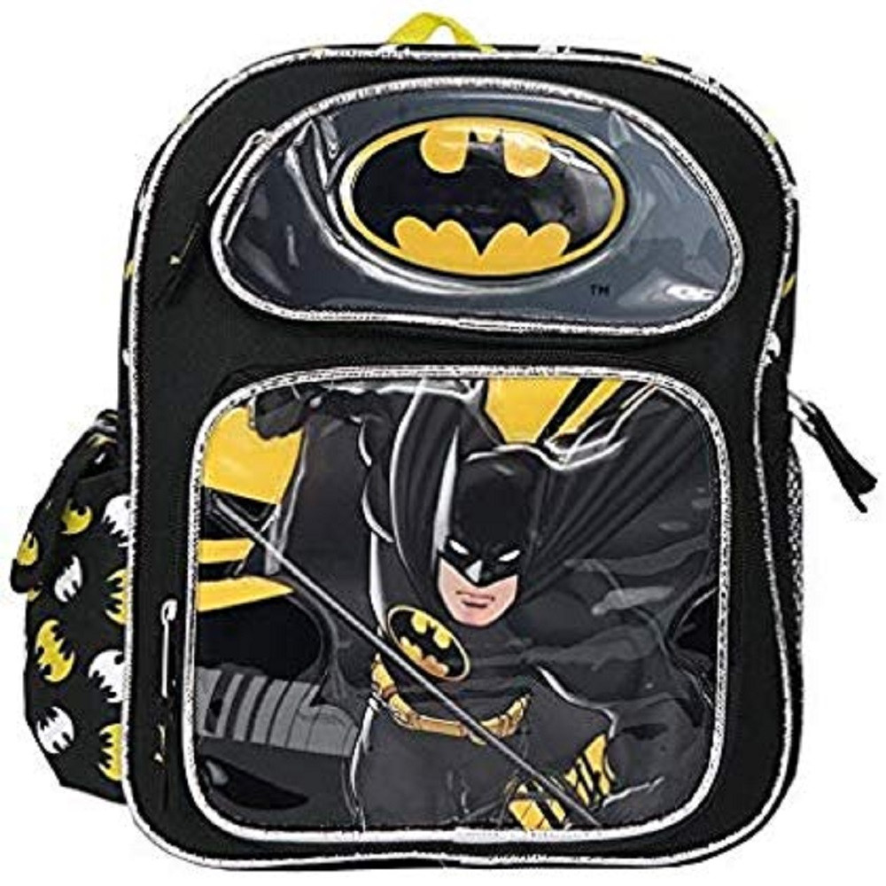 Backpack - Batman - Small 12 Inch - Black - Yellow
