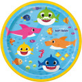 Plates - Baby Shark - Small 7 Inch - Paper - 8ct
