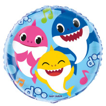 Balloons - Baby Shark - Large 18 Inch - Foil Metallic - Round - 1ct