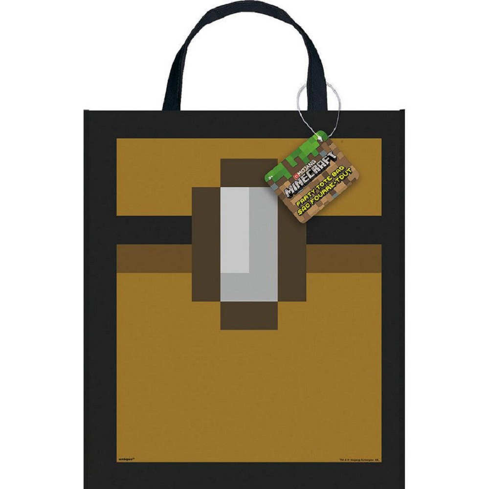 Tote Bag - Minecraft - 13 Inch X 11 Inch - Plastic - 1ct