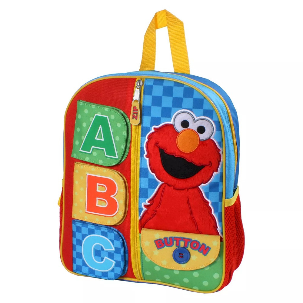 Backpack - Elmo - Small 12 Inch - ABC w Sound