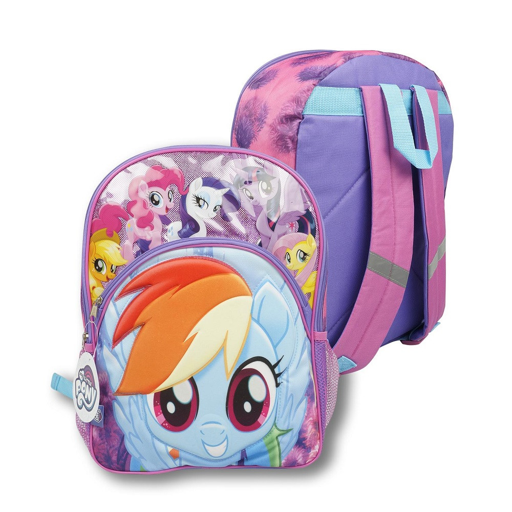 Backpack - My Little Pony - Large 16 Inch - Rainbow Dash - Group