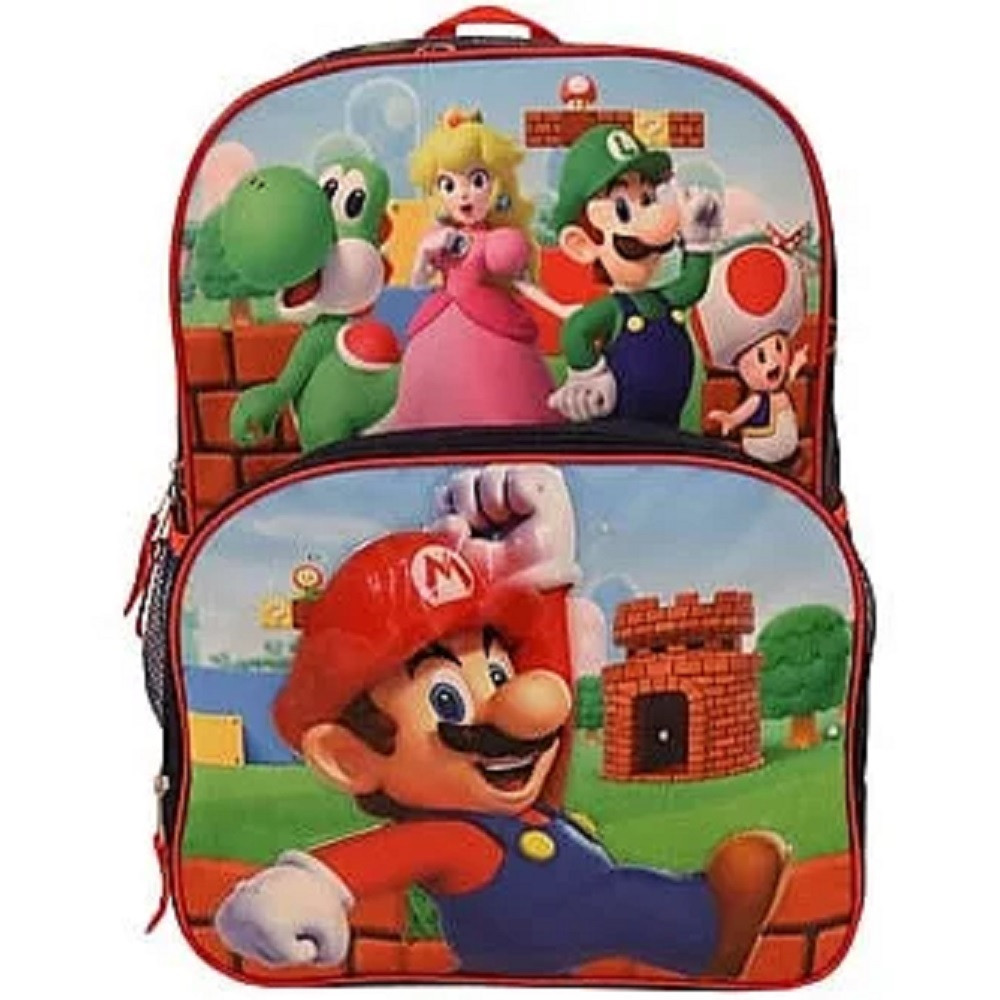 Backpack - Super Mario Brothers - Large 16 Inch - Lite Up