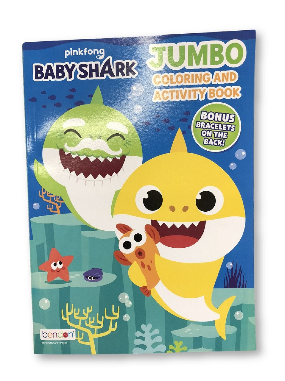 Coloring Book - Baby Shark - Jumbo C&A Book - 32pg