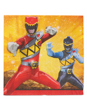 "Napkins - Power Rangers - Dino Charge - Large 13"" X 13"""