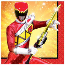 "Napkins - Power Rangers - Dino Charge - Small 10"" X 10"""