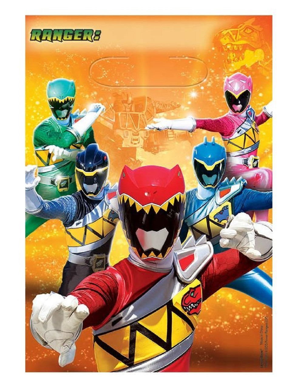 Loot Bags - Power Rangers - Dino Charge - 8ct