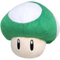 1UP Mushroom Pillow Plush - Super Mario Brothers - 16 Inch