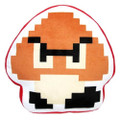 Goomba 8 Bit Pillow Plush - Super Mario Brothers - 15 Inch