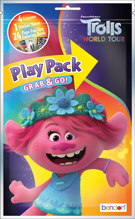 Party Favors - Trolls World Tour - Grab and Go Play Pack - 1ct - Yellow