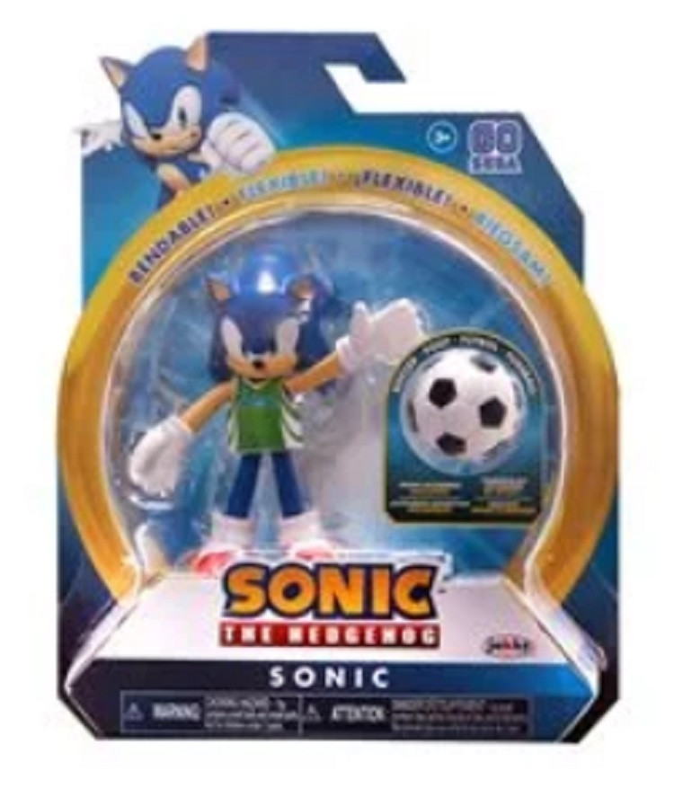 Sonic the Hedgehog - Sonic - 4 Inch - Wave 3 - Soccer Ball - Action Figure