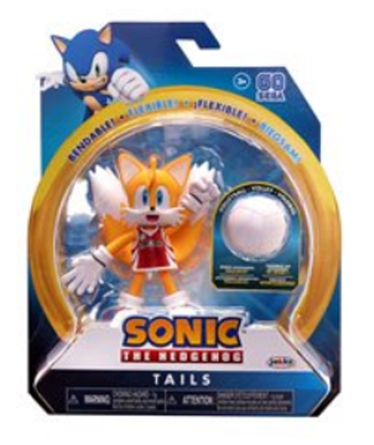 Action Figure - Sonic the Hedgehog - Tails - 4 Inch - Wave 3 - Volley Ball