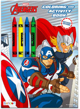 Coloring Book - Avengers - Color and Activity Book w Crayons