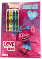 Coloring Book - Trolls - Color and Activity Book w Crayons