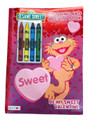 Coloring Book - Sesame Street - Color and Activity Book w Crayons